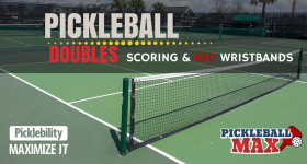 Pickleball Doubles Scoring – 3-Number Scores, Side-Outs and Red Wristbands!