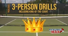 3-person pickleball drills