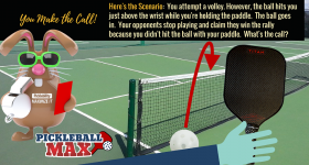 The Pickleball Hits You, Goes Over the Net and Lands In — What's the Call?