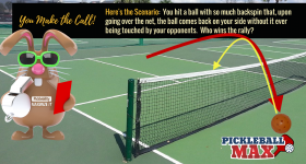 Pickleball Comes Back Over Net without Being Touched — Who Wins the Rally?