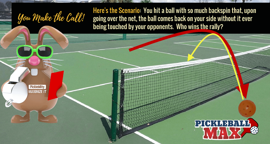 Pickleball Comes Back Over Net Without Being Touched Who