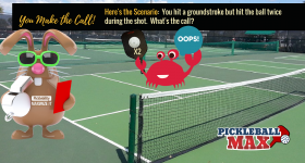 Hitting the Pickleball Twice on the Same Shot — The Double Hit — What's the Rule?