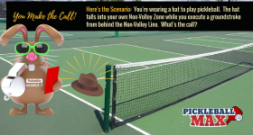 Hat Falls Off and Into the Pickleball Kitchen — You Make the Call!