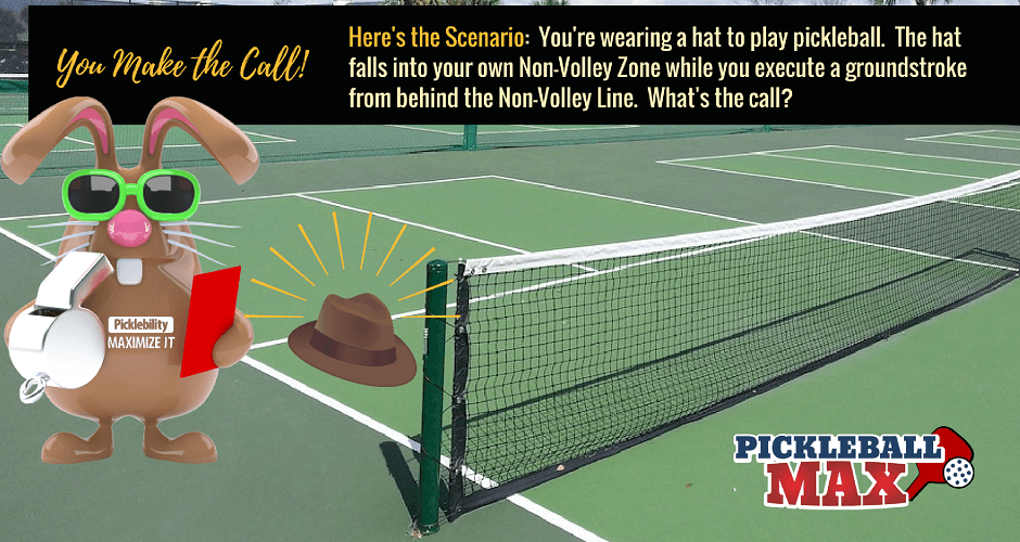 0c22e5f0efc54 Hat Falls Off and Into the Pickleball Kitchen — You Make the Call ...