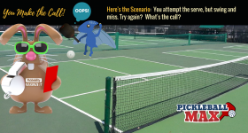 "Pickleball Swing-and-a-Miss on the Serve — Try Again? What Say You? What is the ""Official"" Rule?"