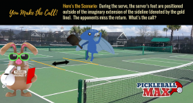 Pickleball Service Foot Faults & Imaginary Extensions — What You Need to Know!