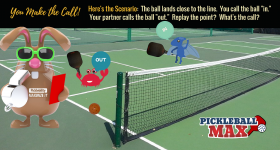 "You Call it ""Out,"" Your Partner Calls it ""In"" — Replay the Pickleball Point? What's the Call?"