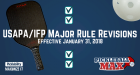 Updated Pickleball Rules — Major Rule Revisions Effective January 31, 2018