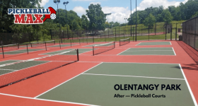 Bravo, Columbus! Outdoor Pickleball at Olentangy Park in Worthington, Ohio!