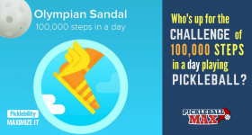 Pickleball and the Olympian Sandal — Are You Up for the 100,000 Step Pickleball Challenge?