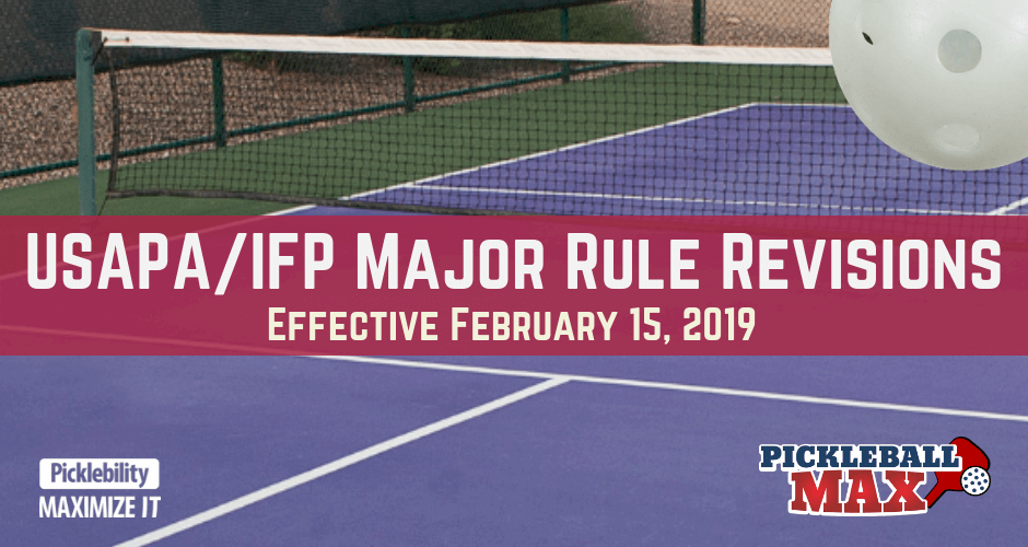 Pickleball Rules 2019