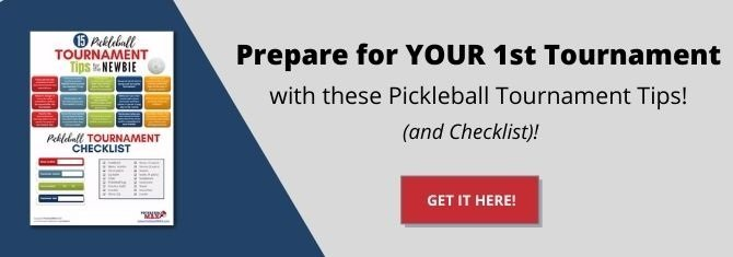 pickleball tournament tips