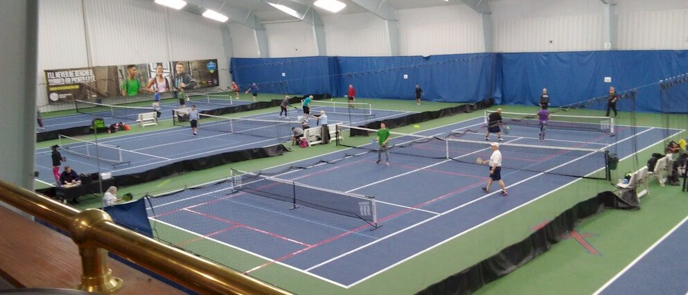 Pickleball on tennis courts
