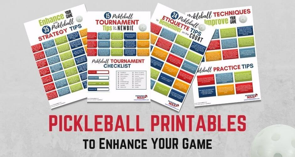 pickleball printables