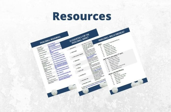 pickleball resources