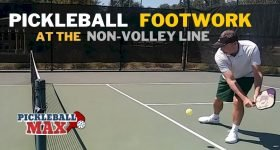 Pickleball Footwork at the Non-Volley Line
