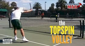 Pickleball Topspin Volley