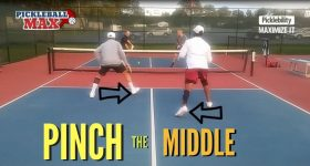 Pinch the Middle Pickleball Doubles